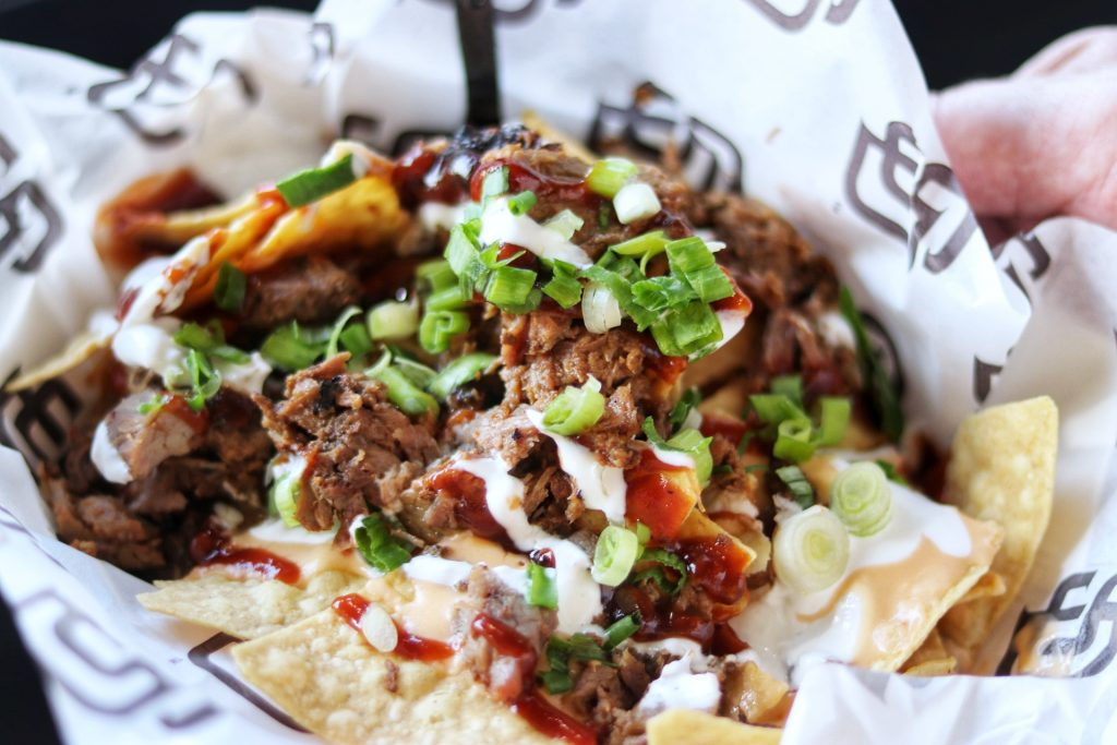 Petco Park food - The Tri-Tip Nachos are some of the best food at Petco Park