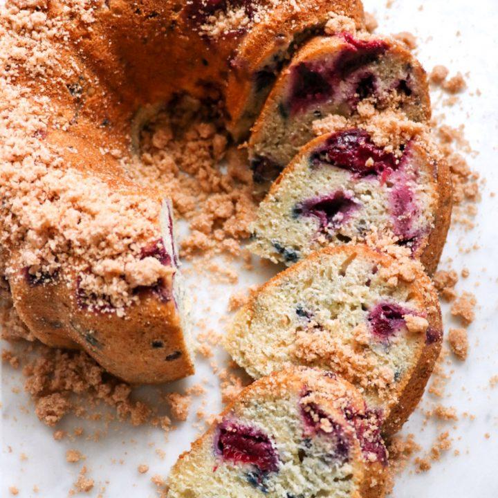 Pressure Cooker Plum Bundt Cake (Instant Pot Bundt cake recipe)