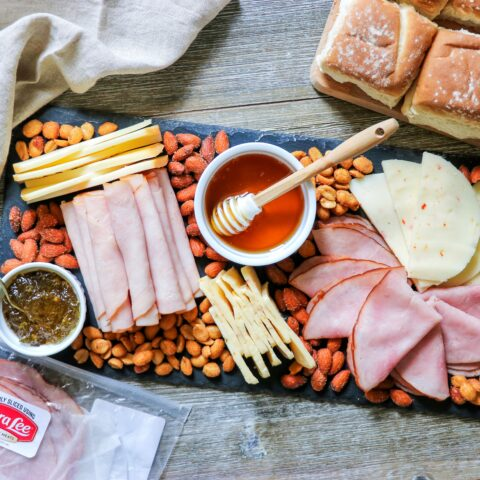 make your own sandwich charcuterie board