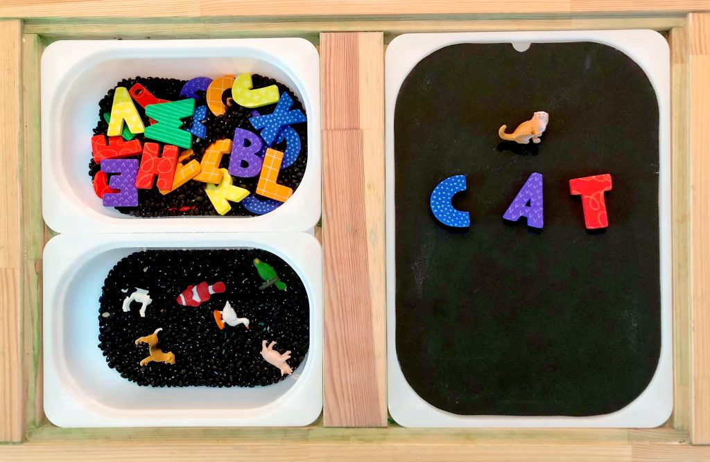 spelling sensory games for toddlers
