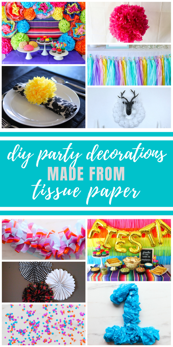 10 DIY Tissue Paper Party Decorations (easy DIY crafts with tissue paper)