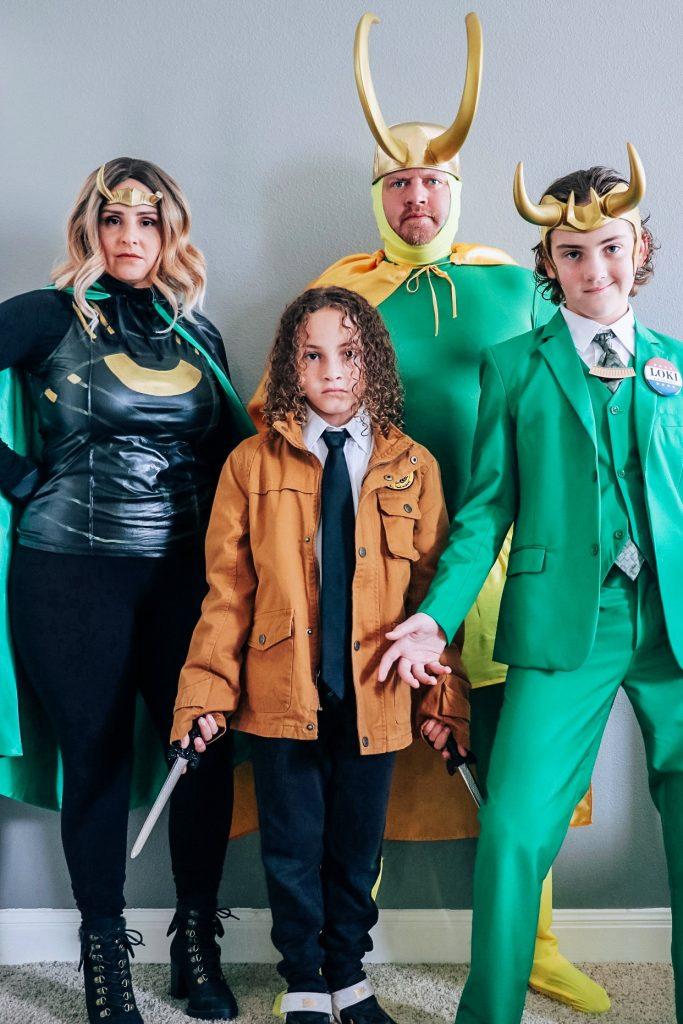 Family DIY Loki costume ideas for Halloween