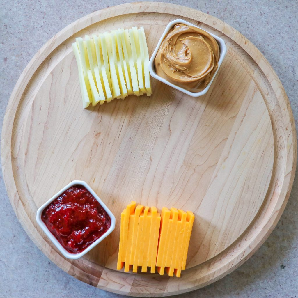charcuterie board themes - how to make a peanut butter and jelly kids charcuterie board