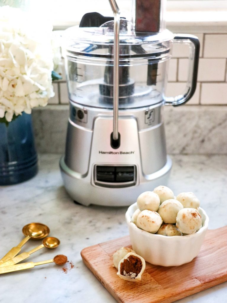 How to make pumpkin spice truffles with the The Hamilton Beach 8-Cup Stack & Snap Food Processor