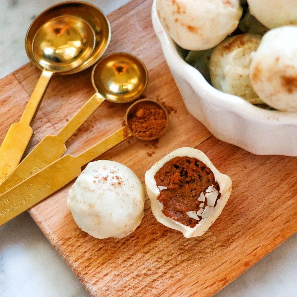 easy pumpkin spice truffles