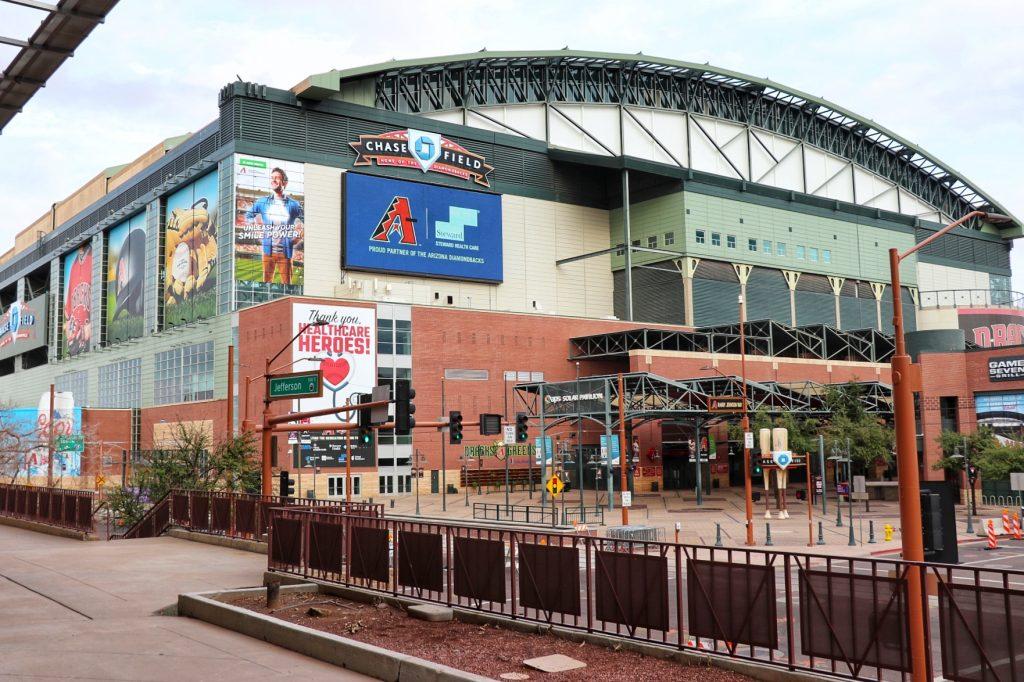 southwest baseball stadium road trip - chase field in phoenix, az