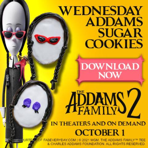 Wednesday Addams Sugar Cookies