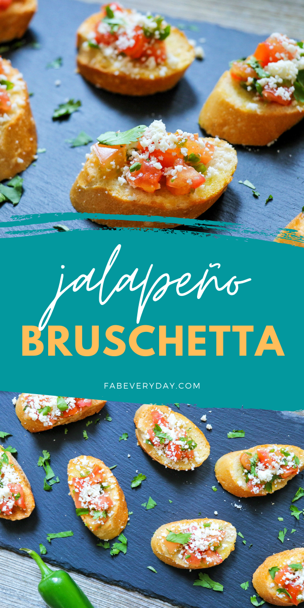 What to do with jalapenos: Jalapeño Bruschetta